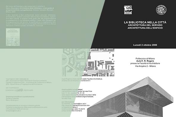 La biblioteca nella città. Architettura del servizio, architettura dell'edificio