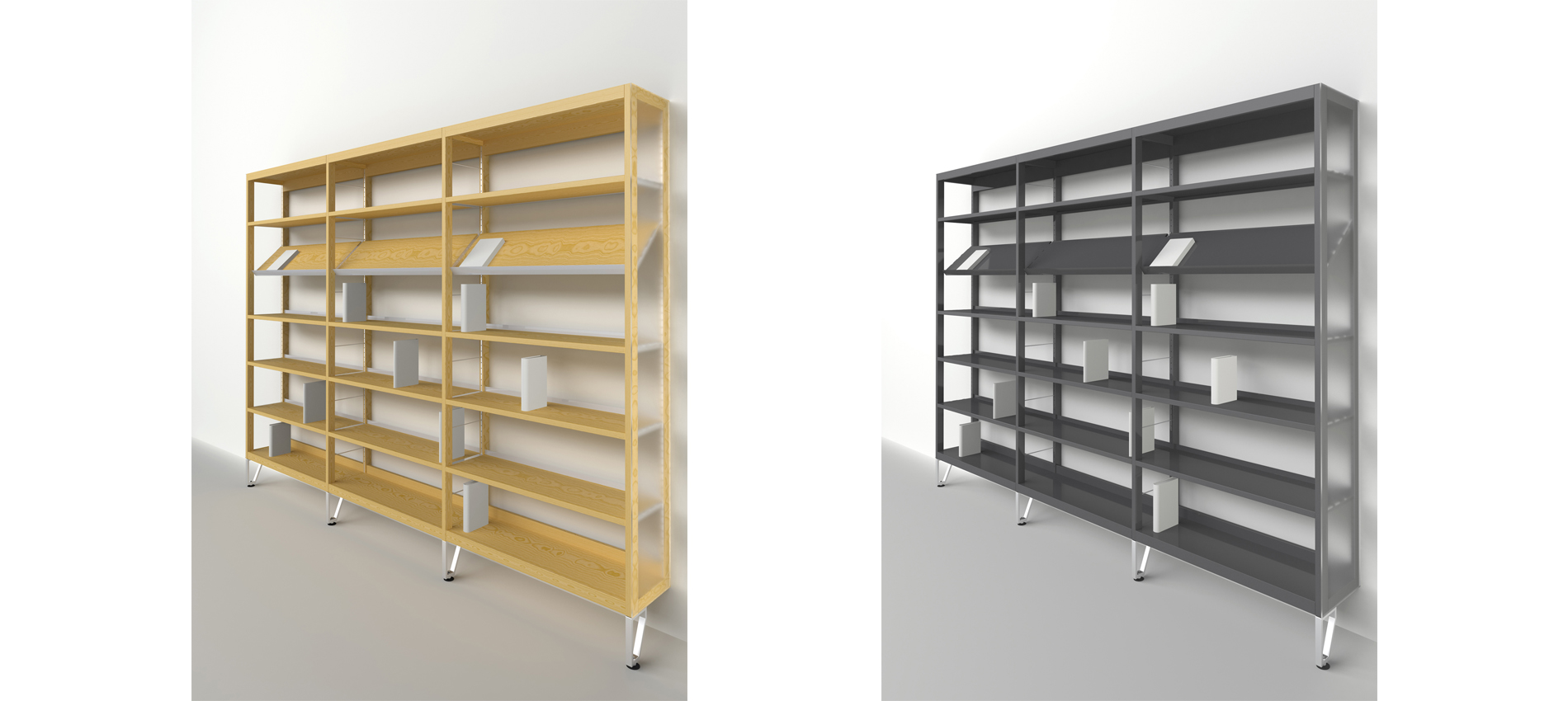 Scaffalature Per Biblioteca.Sistema Arredo Biblioteche Alterstudio Partners